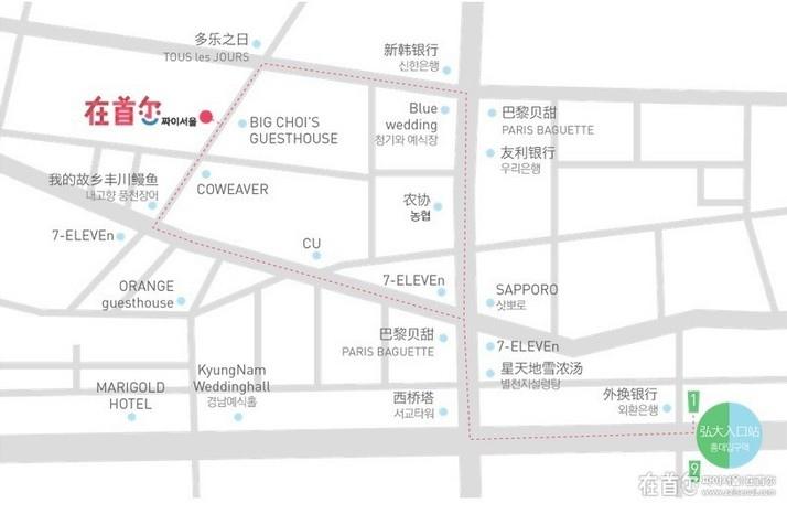 在首尔 公司地图