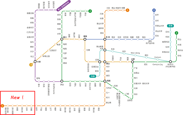 釜山地鐵更新