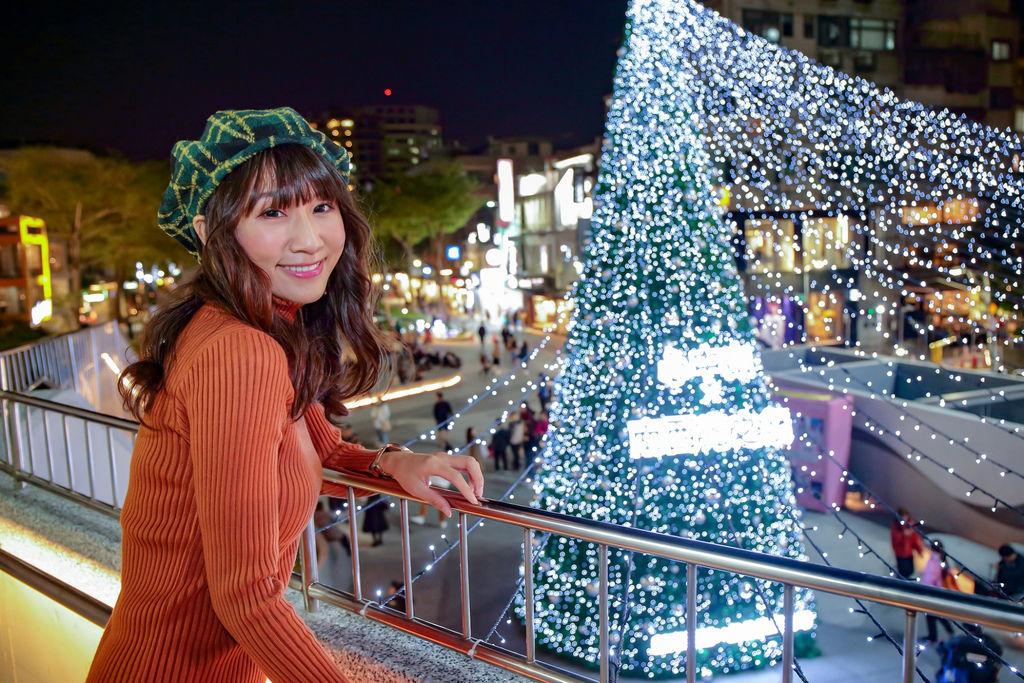 台北聖誕節景點推薦-捷運中山站的心中山線型公園,給你一個浪漫的聖誕節