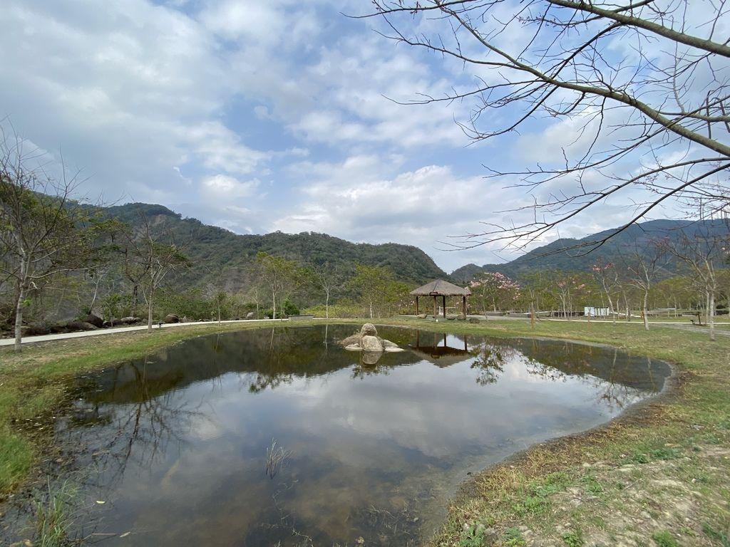 高雄六龜景點-寶來溫泉花賞公園,一起到遠山望月風呂露營區泡湯賞花