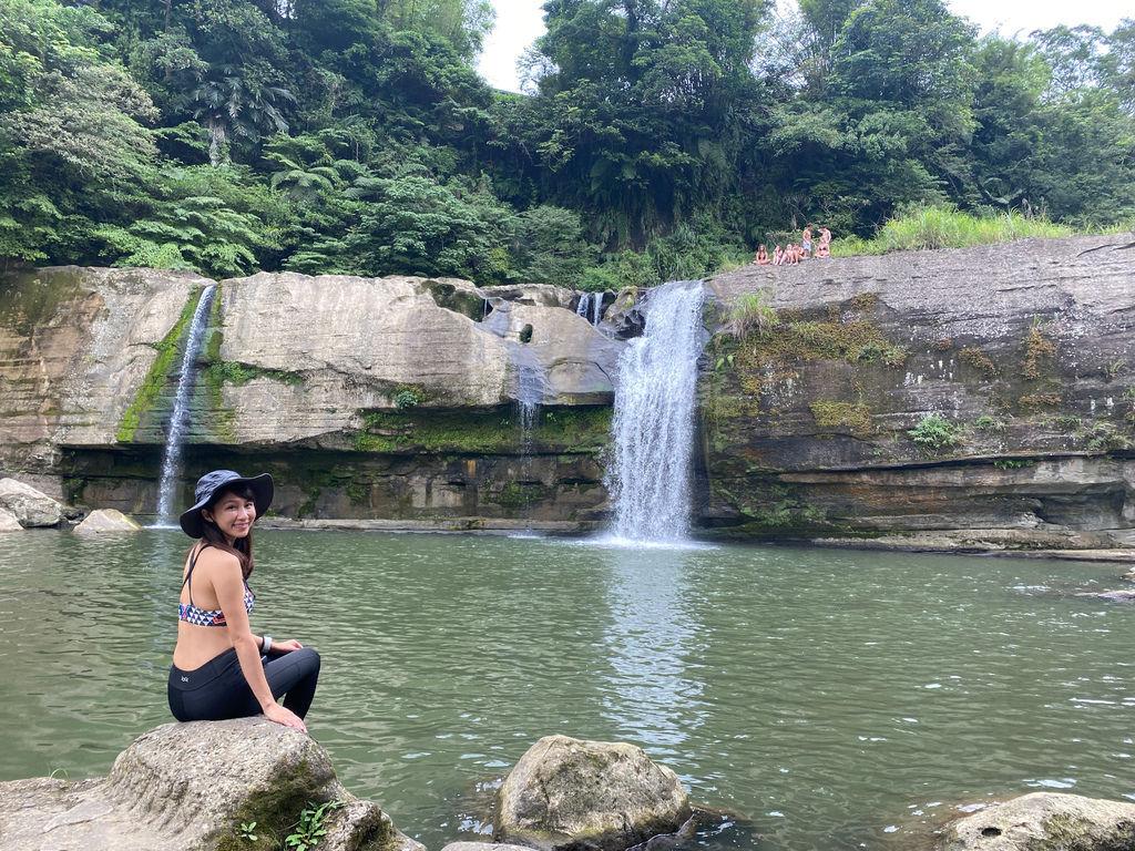 新北市的消暑秘境!隱藏版的平溪景點-嶺腳瀑布