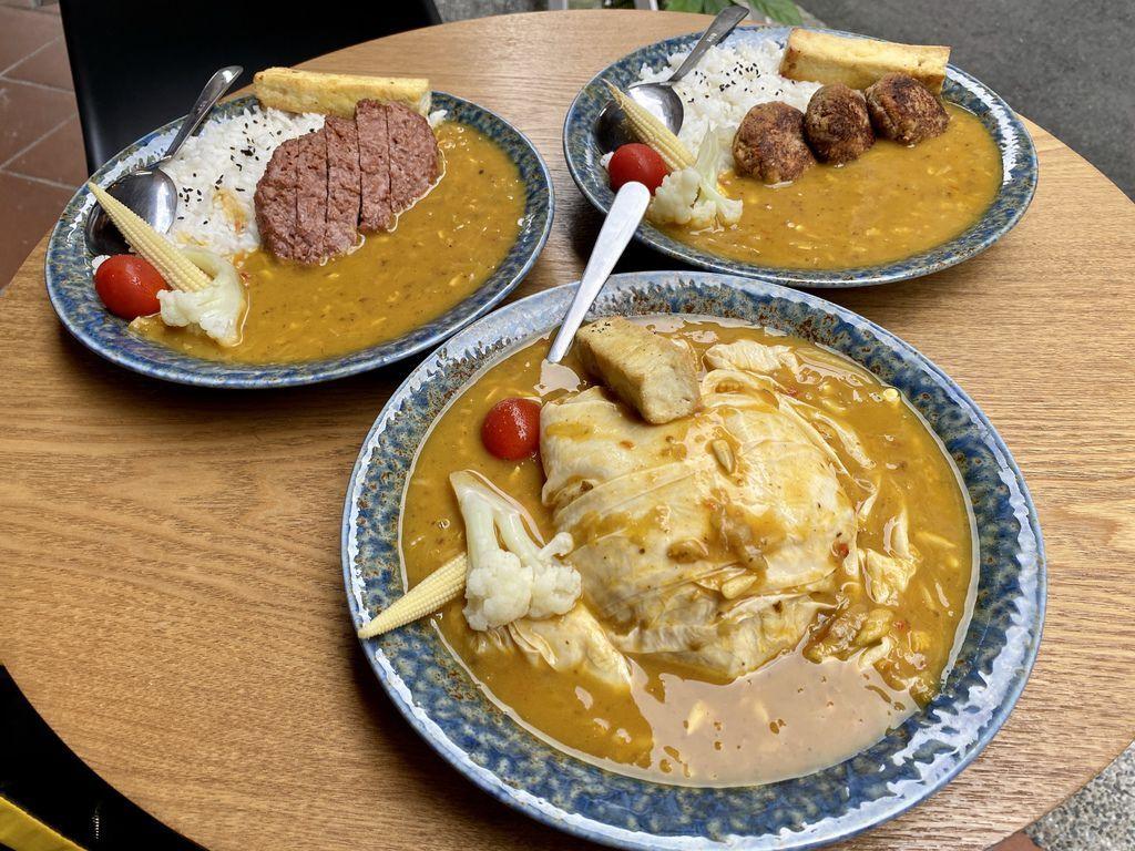 大同區素食餐廳-隱藏在迪化街的素食咖哩專賣店-無口小廚