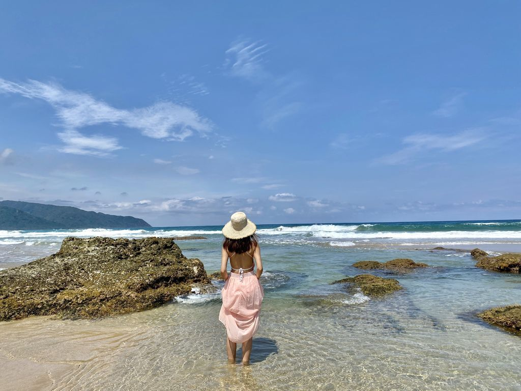 屏東滿州景點-乾淨又漂亮的無人的海灘秘境,滿洲沙灘