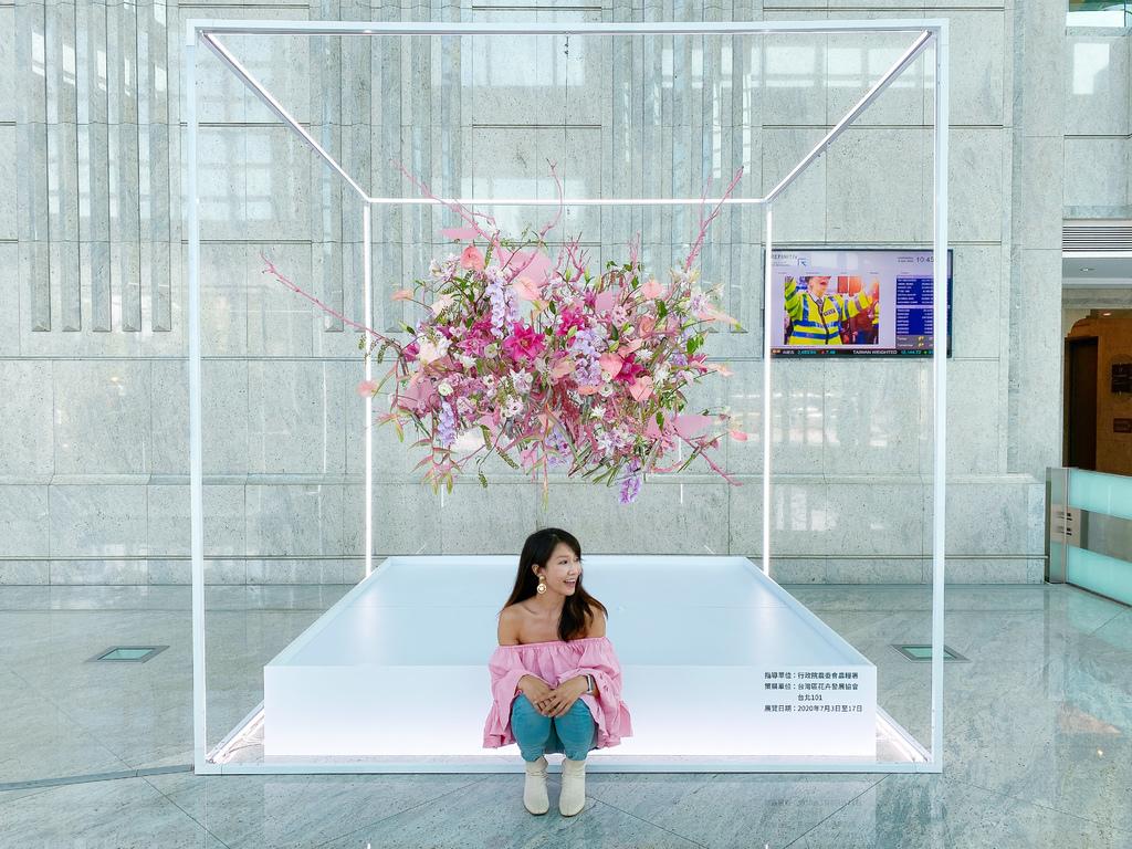 台北101的夢幻花園!台灣花卉與當代藝術結合,打造出不一樣的花卉展島嶼花園
