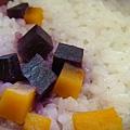 紫番薯地瓜白飯 配菜我可以吃好幾碗