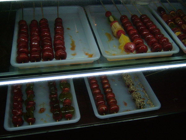 各種口味糖葫蘆任你挑選