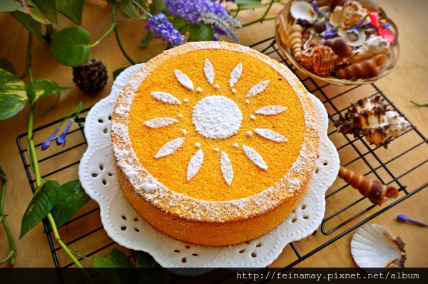 南瓜紅梨粉蛋糕