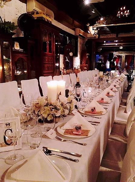 長桌婚禮佈置