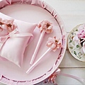 戀戀花朵粉系列-戒枕/簽名筆/喜糖盤
