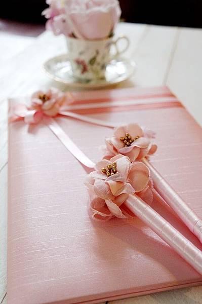 戀戀花朵粉系列-證書本/簽名筆
