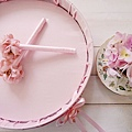戀戀花朵粉系列-喜糖盤/簽名筆