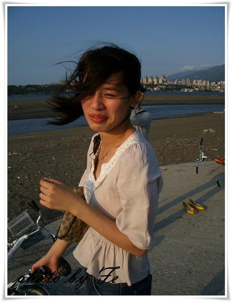 淡水的風總是這麼大~~