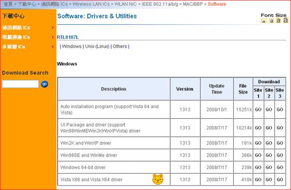 RTL8187L driver