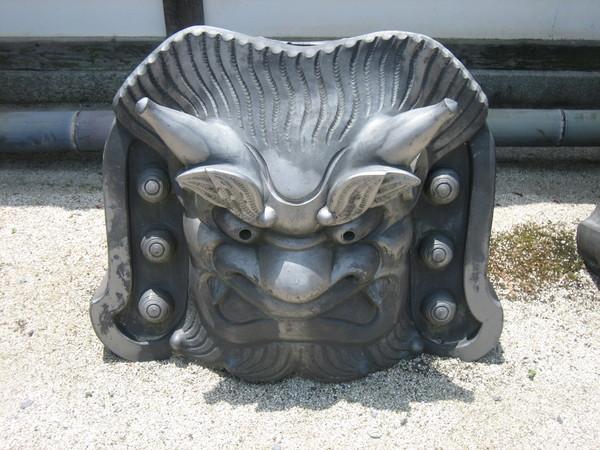 天竜寺裡的石像