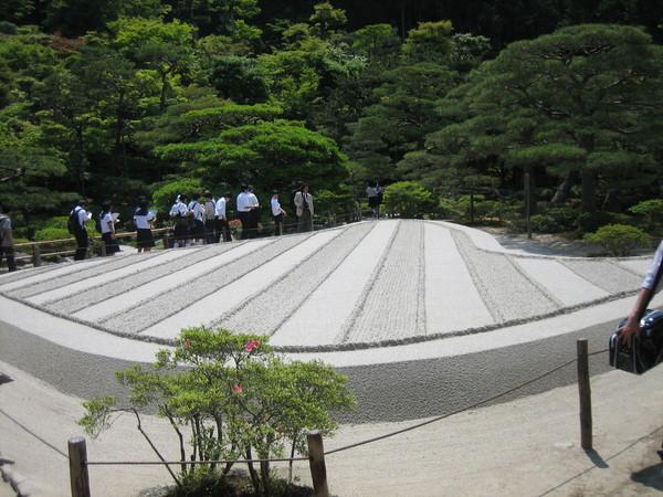 銀閣寺裡的銀沙灘