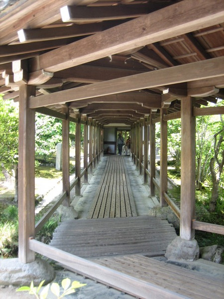 天龍寺裡的迴廊