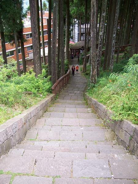 民宿通往商店區的階梯