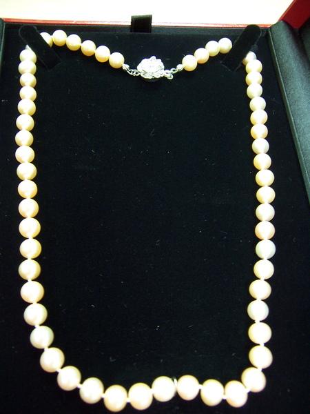 噹噹噹~~珍珠項鍊耶~