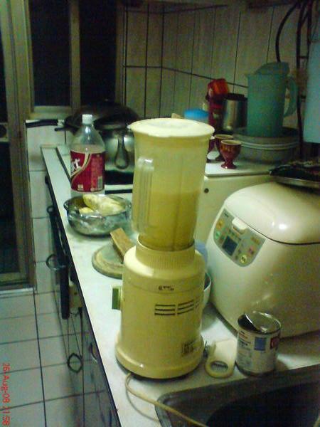 喔喔, 已經成型的榴槤牛奶, 那師父呢?