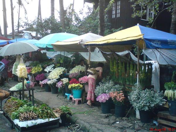 賣花的小販