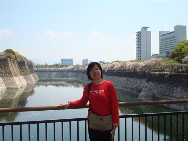 大阪城外的護城河