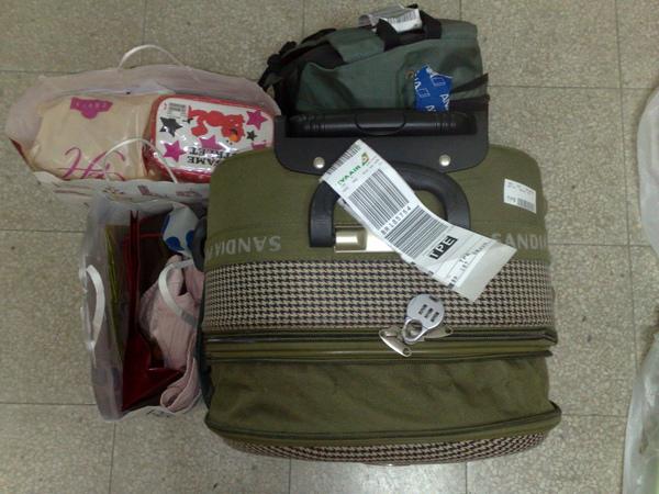 超重的行李們
