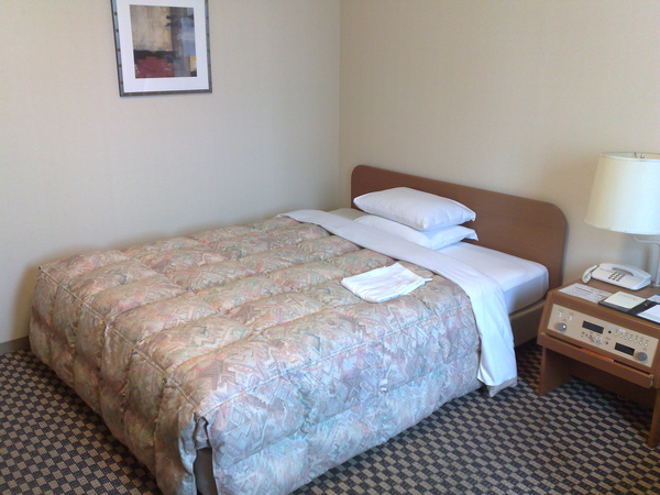 我老覺得這次單人房的床跟上次雙人房的一樣耶