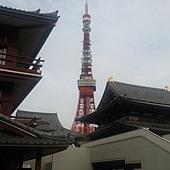 增上寺與東京鐵塔