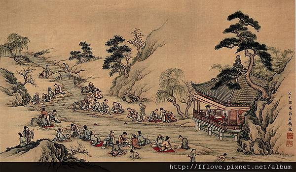 800px-Meandering_Stream_at_Lan-ting_Yamamoto_Jakurin_Hanging_scroll_color_on_silk
