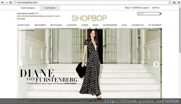 shopbop 首頁