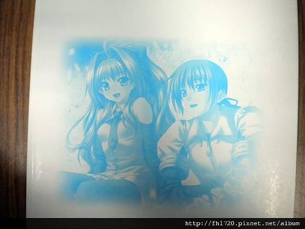 神奈月昇畫集-裡背面