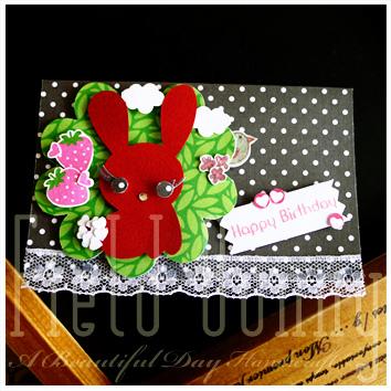小紅兔生日卡片-未發