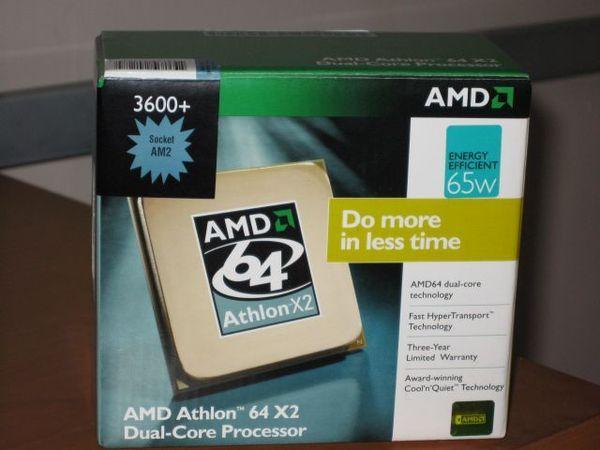 AMD AM2 3600+ L2 512K*2 外盒