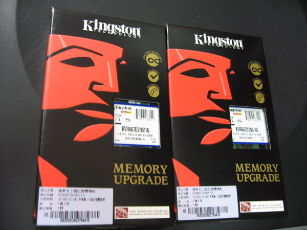 金士頓 DDR2 667 1G*2