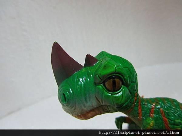 魔獸寵物 WarCraft Pet-迅猛龍寶寶-頭部尖角及眼神.jpg