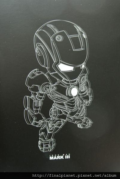 Tideway 鋼鐵人 Iron Man MK3 藍色ver.-外盒-外蓋-線條結構_800x600