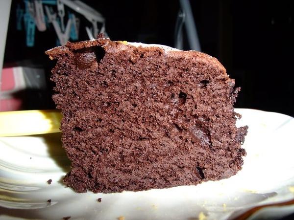 古典巧克力-剖面看起來滿紮實的