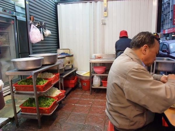 旁邊等著上場的青菜