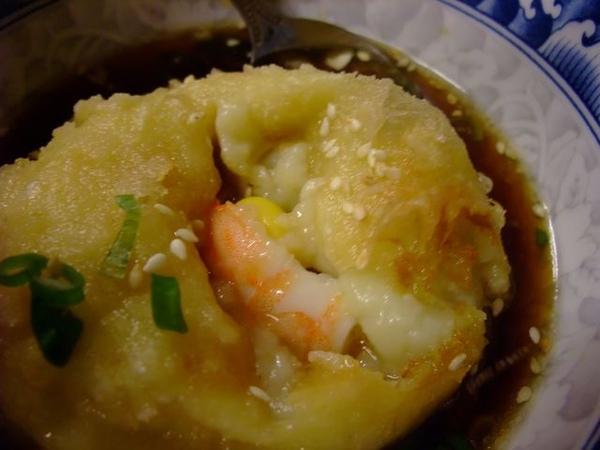 樂屋豆腐-裡頭還有鮮蝦.JPG