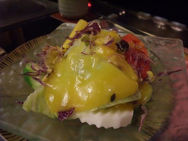 餐點-水果醬生菜沙拉.JPG