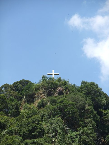 烏來-台車對面遠方的十字架.JPG
