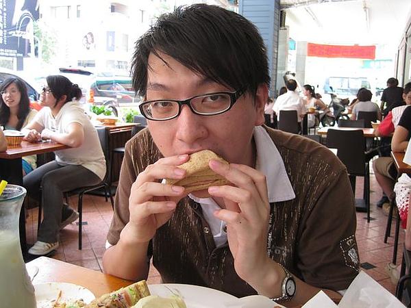 第2日早餐-尼克咖啡-總匯三明治-小弟好吃.JPG