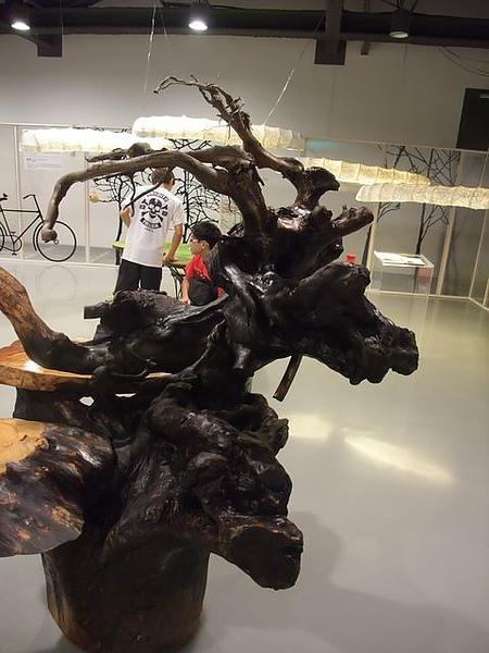 蘭陽博物館-鹿形木雕.JPG