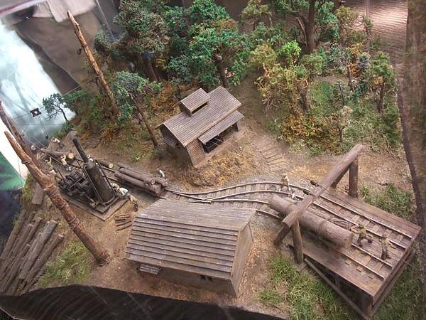 蘭陽博物館-古時伐木運輸.JPG