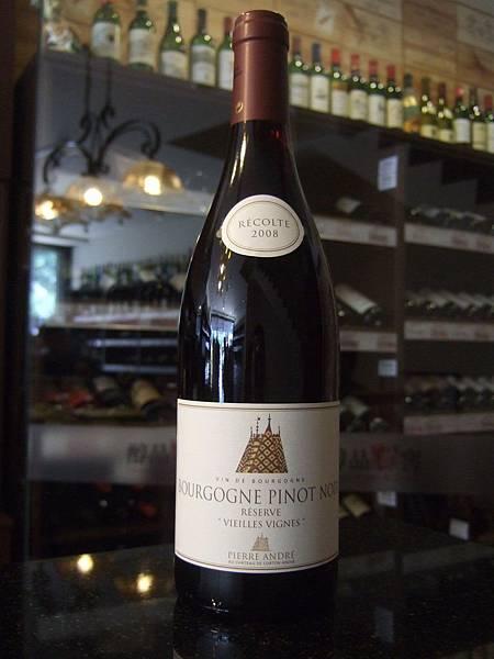 Pierre Andre Bourgogne Pinot Noir Reserve Vieilles Vignes 2008