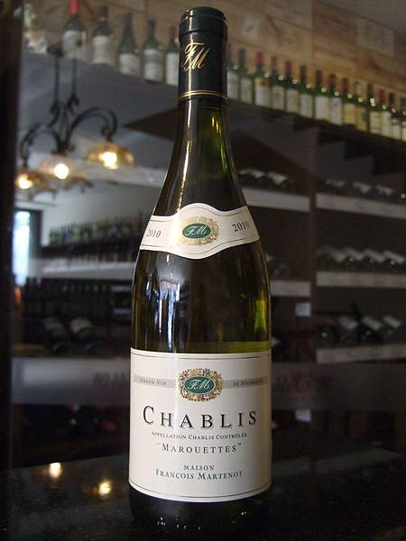 Francois Martenot Chablis Marouettes 2010