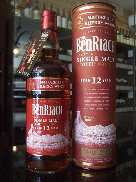 BenRiach Matured in Sherry Wood Single Malt Scotch Wisky 12Years