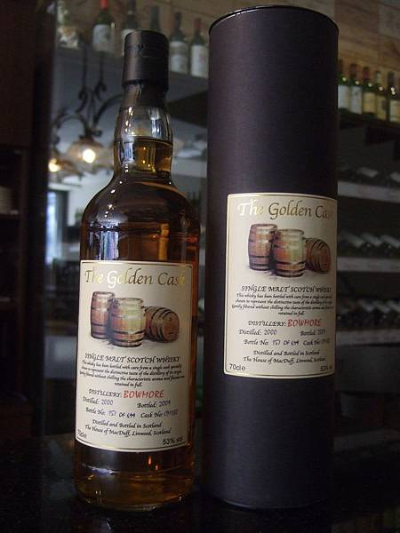 The Golden Cask Bowmore Scotch Whisky 2000