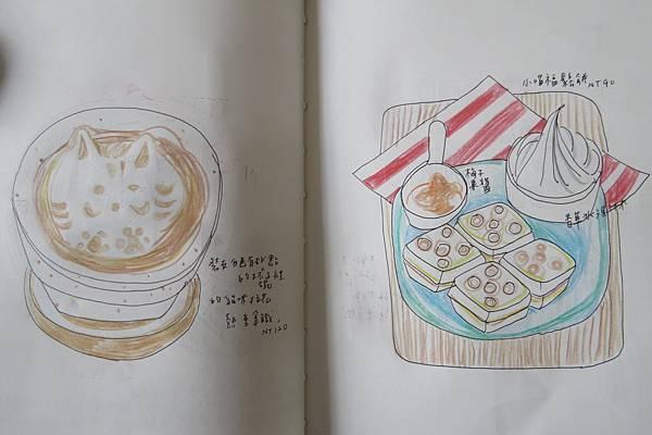 在本東畫材喝咖啡