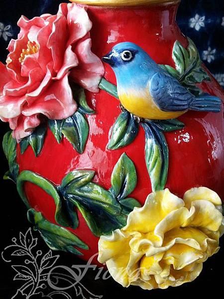 仿瓷花瓶-201305 By Fiona Yang